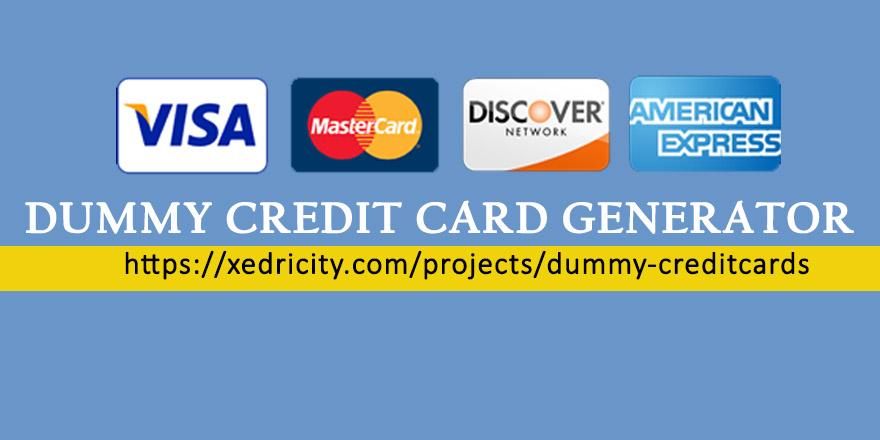 Fake Credit Card Generator Tool