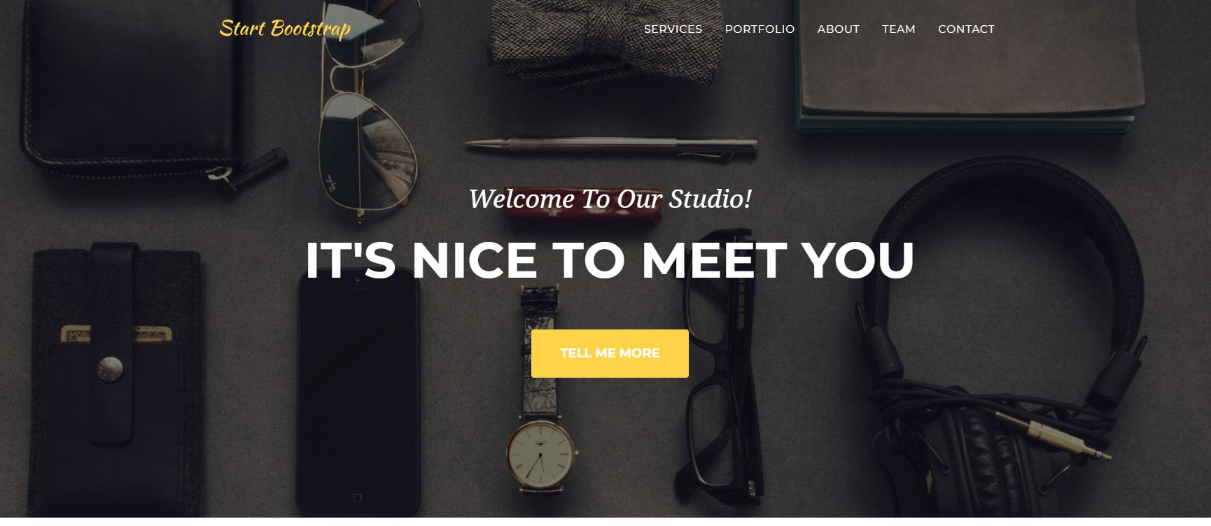 agency bootstrap web template