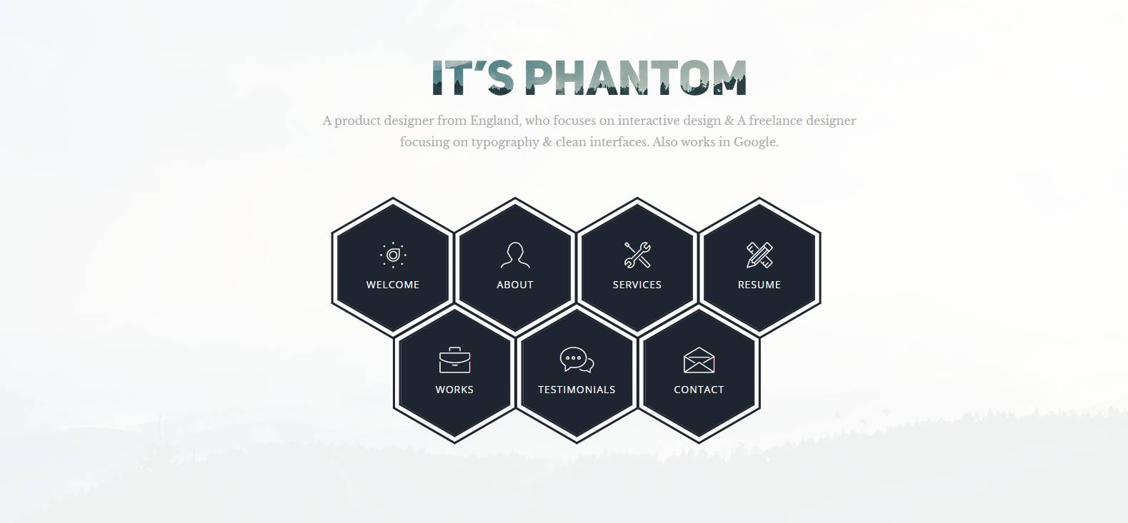 phantom bootstrap web template
