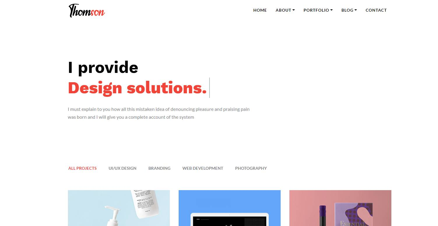thomson bootstrap web template