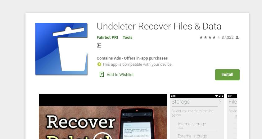 Undeleter Recover Files & Data