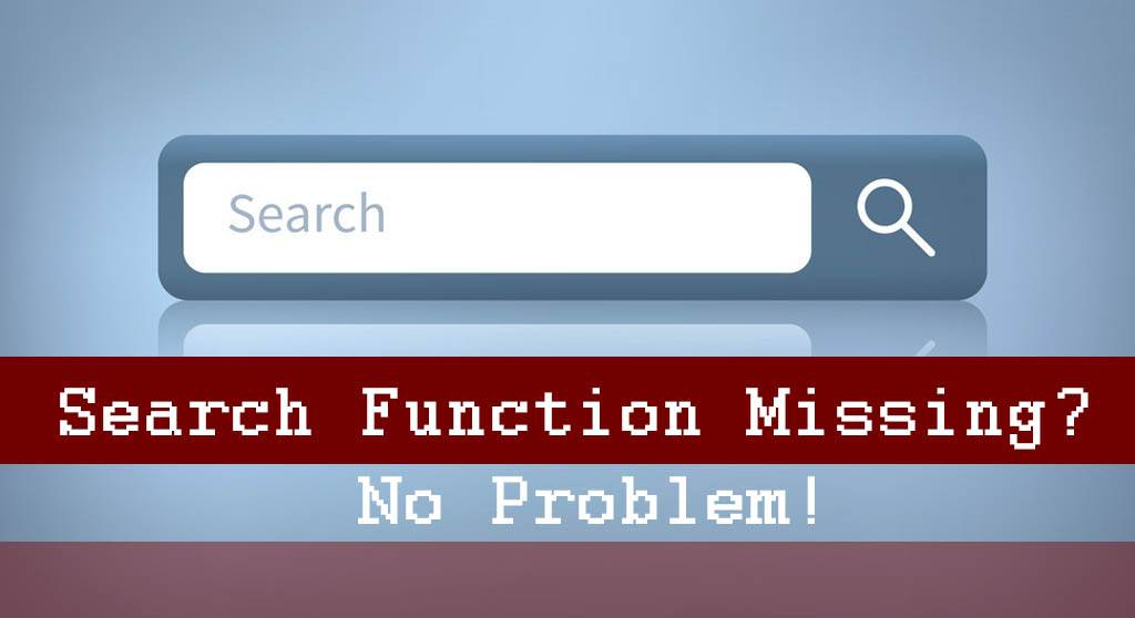 How to search a website without a search function